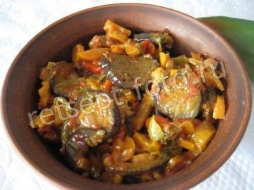 Аджапсандали по-грузински (рагу с баклажанами)