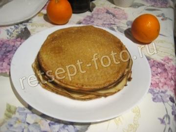 Блины с цедрой апельсина на кефире