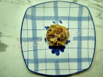 Блины с жюльеном из грибов с мясом