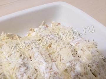 Бризоль с куриным фаршем, грибами и сыром