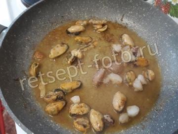 Булгур с рисом и морепродуктами