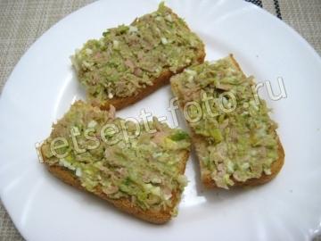 Бутерброды с тунцом и авокадо