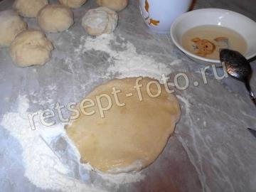 Дрожжевые булочки с сахаром на воде
