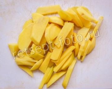 Форель с картошкой в сливках в духовке