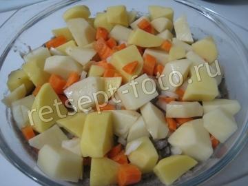 Картофельная запеканка с салакой