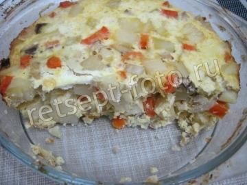 Картофельная запеканка с тунцом