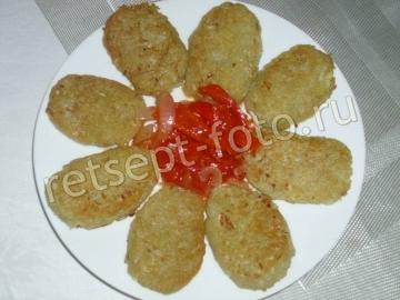 Картофельные драники с манкой без яиц