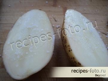 Картошка с салом запеченная в мундире в духовке в фольге