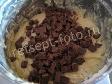 Кекс с вишней и шоколадом на кефире