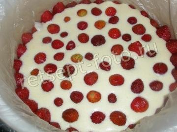 """Клубничный торт """"Фрезье"""" с кремом муслин с желатином"""
