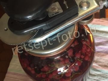 Компот ассорти из ягод на зиму (шелковица, красная и черная смородина, малина)