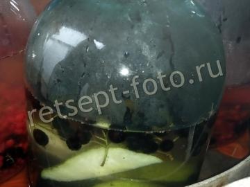 Компот ассорти с грушами и черной рябиной