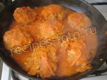 ленивые голубцы рецепт с фото в духовке в томатно сметанном соусе