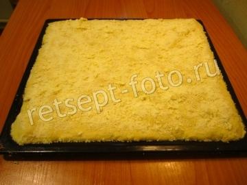 Лимонный песочно-дрожжевой пирог