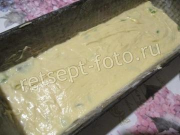 Медовый кекс с ревенем