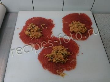 Мясные рулетики из говядины с начинкой