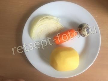 Овощное пюре с перепелиным яйцом от 1 года