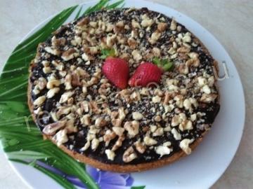 Пирог на основе варенья без кефира