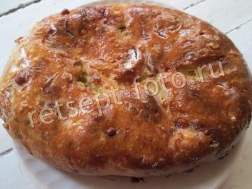 Пирог с капустой из картофельного теста
