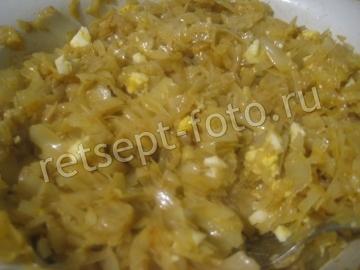 Пирожки с капустой и яйцом в духовке