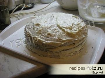 """Простой классический торт """"Сметанник"""""""