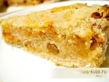 Простой пирог с яблоками без яиц