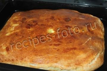 Рыбный дрожжевой пирог с пангасиусом