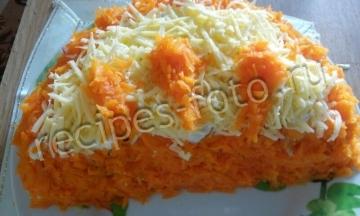 Салат Апельсиновая долька – красивый и оригинальный рецепт с фото