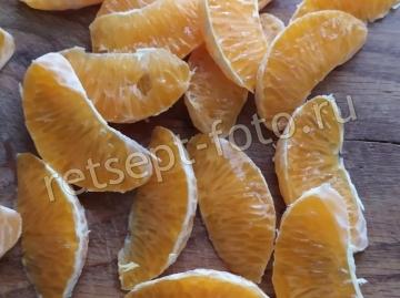 Салат с мандаринами и ветчиной