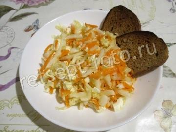 Салат с сыром Фета и пекинской капустой