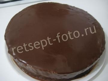 Шоколадно-апельсиновый муссовый торт с бисквитом