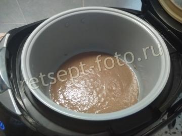 Шоколадный манник на воде в мультиварке