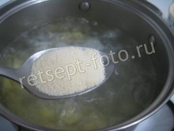 Суп с клецками и грибами без мяса