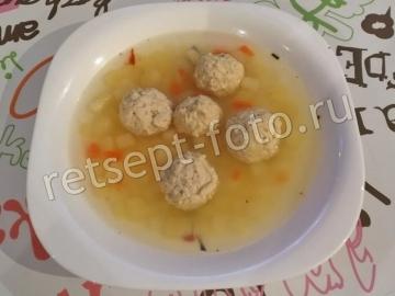 Суп с куриными фрикадельками без зажарки