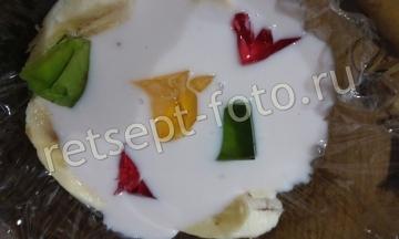 """Торт """"Битое стекло"""" с бананом на сметане или йогурте"""