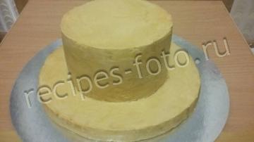 """Торт Муравейник """"Дамская шляпка"""" из мастики"""