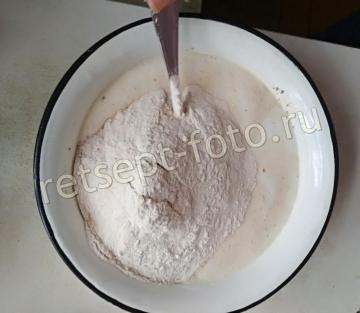 Цельнозерновой хлеб на кефире без дрожжей