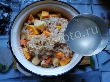 Тыквенный суп-пюре на бульоне со сливками для ребенка 1 год