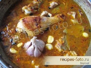 Вкусный плов с курицей на сковороде