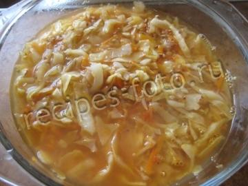 Запеканка из капусты и гречки без мяса в духовке