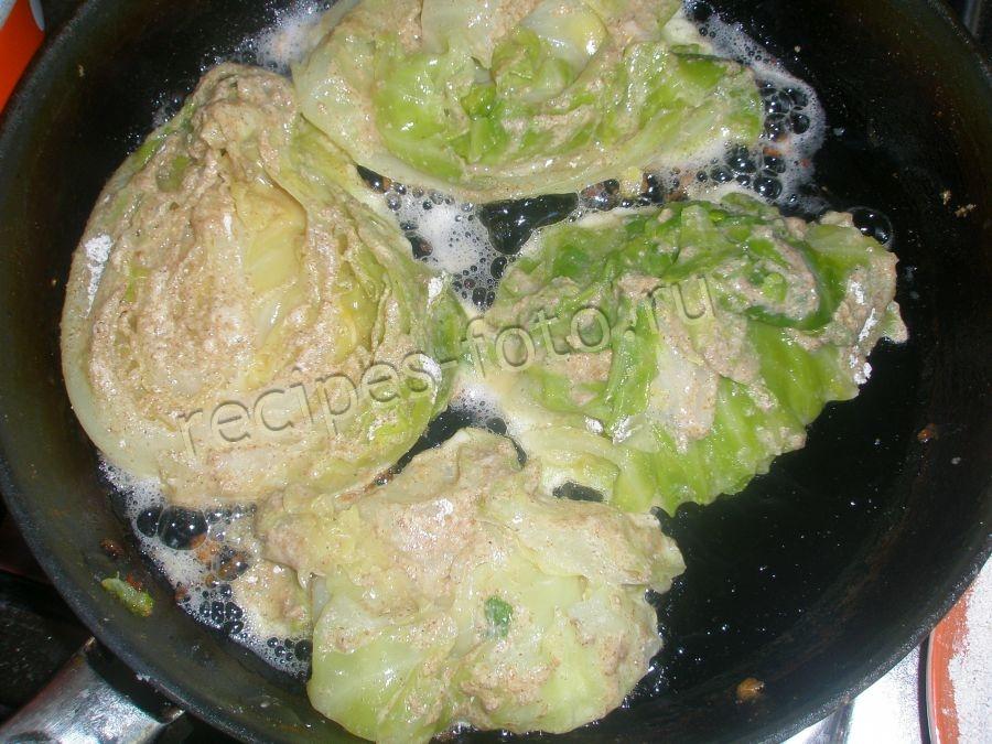 капуста в кляре пошаговый рецепт с фото белокочанная
