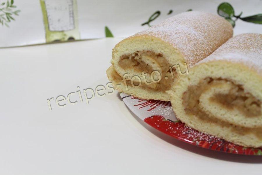 Как испечь бисквитный рулет в домашних условиях