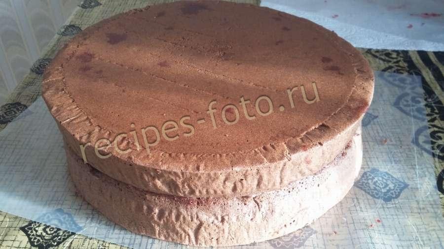 Торт пьяная вишня с заварным кремом