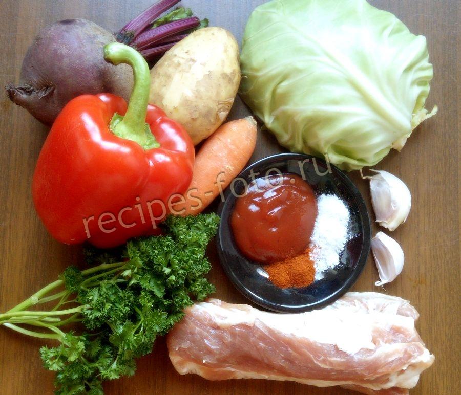 Борщ в горшочках в духовке рецепты с пошагово