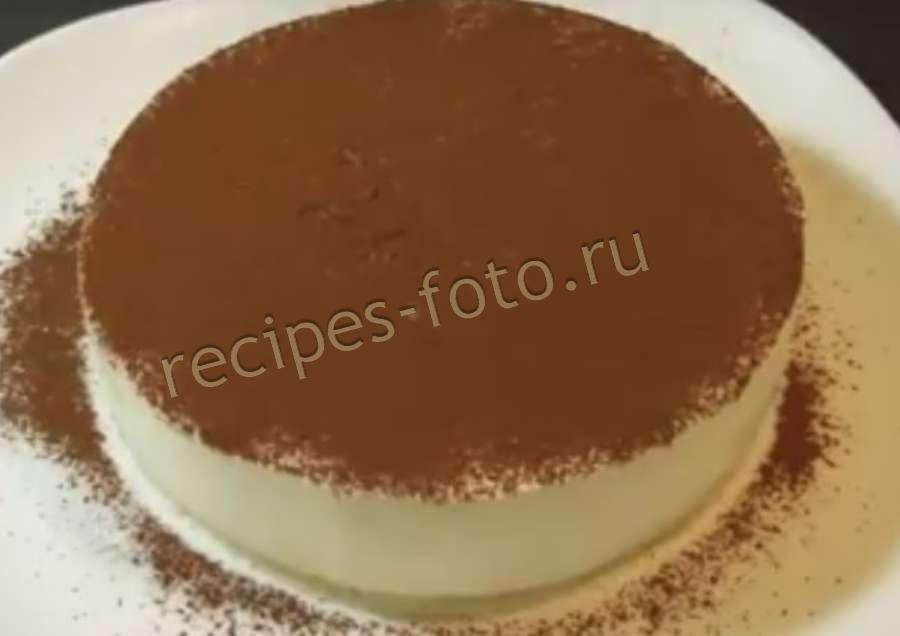 Бисквитный торт тирамису рецепт пошагово