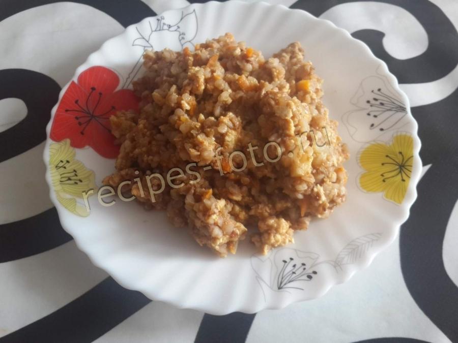 Овощи с фаршем на сковороде рецепт с фото