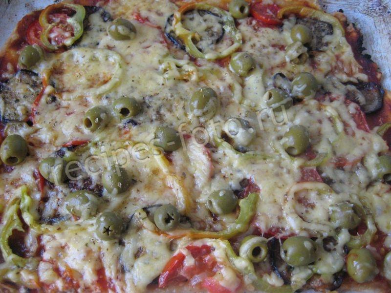 Пицца в домашних условиях с помидорами 577