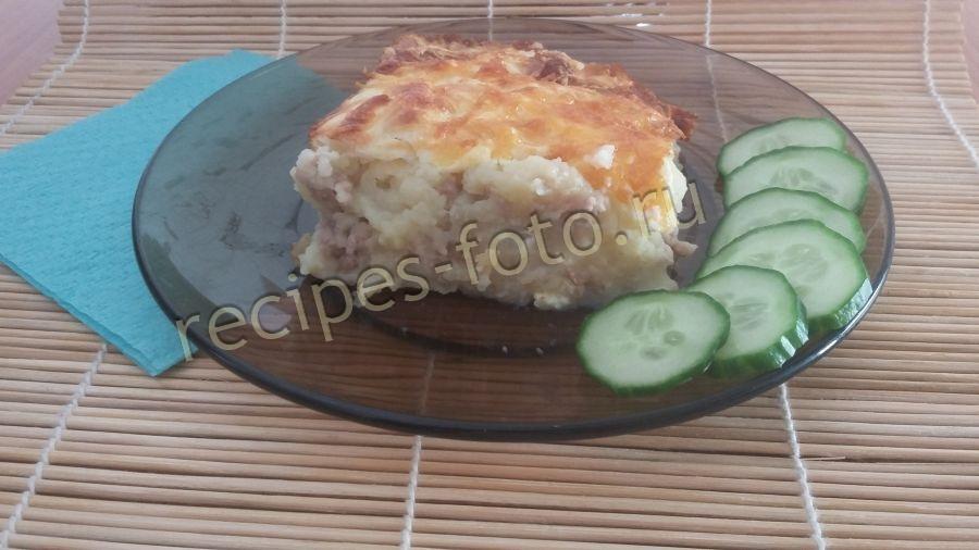 Фарш с картошкой и грибами в духовке рецепт с фото