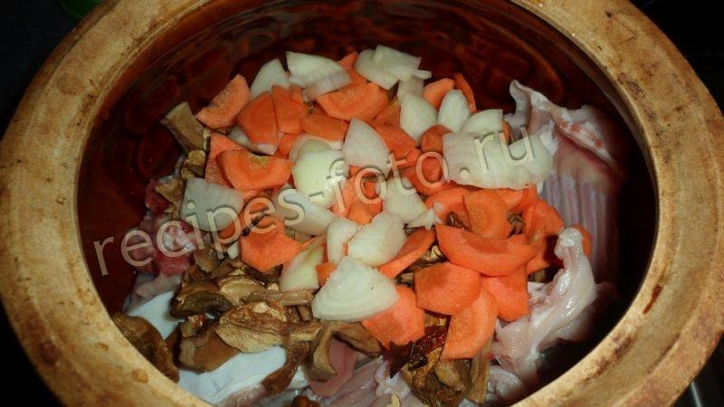 Кролик в горшочке с картошкой рецепт с пошагово