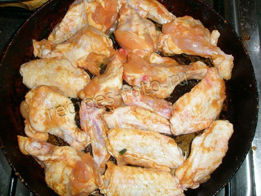 Куриные крылья в духовке рецепт с пошагово